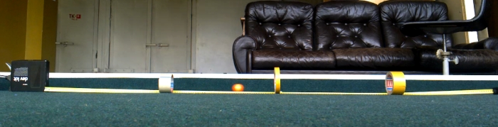 A video frame of a moving ball