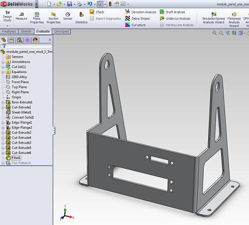 CAD model of a part