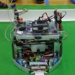 A similar robot, without a laptop