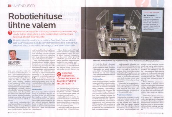 Robotiehituse lihtne valem (AM 02.2012)
